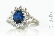 Saphire and Diamond Ring, USA
