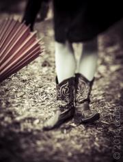 Red Umbrella & boots