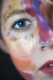 Closeup Eye, studio